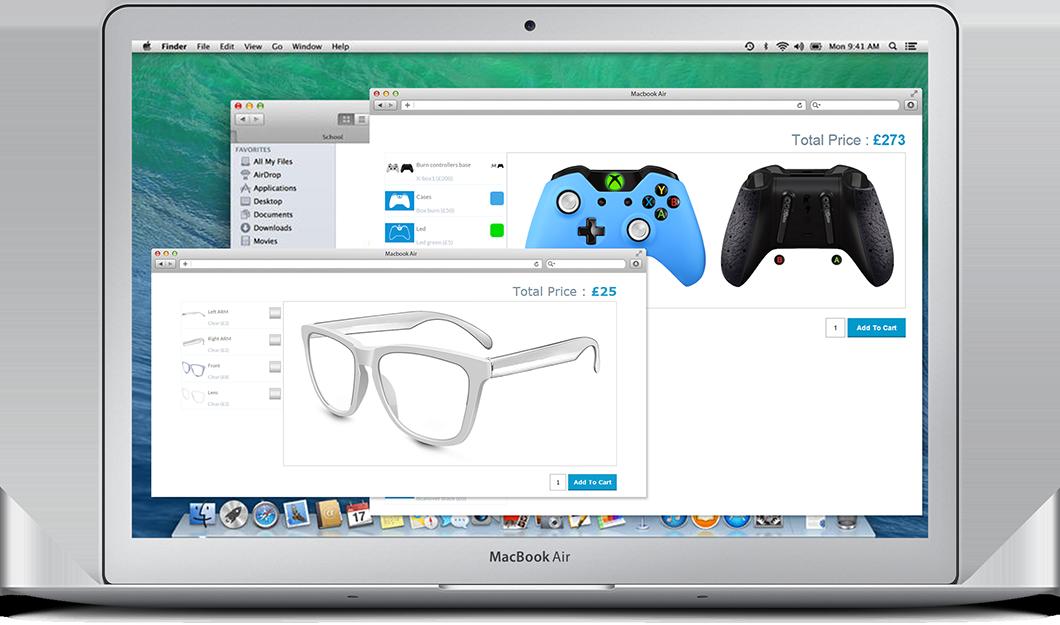 Woocommerce product configurator screenshot